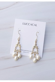 Rococo Filigree Pearl Earrings