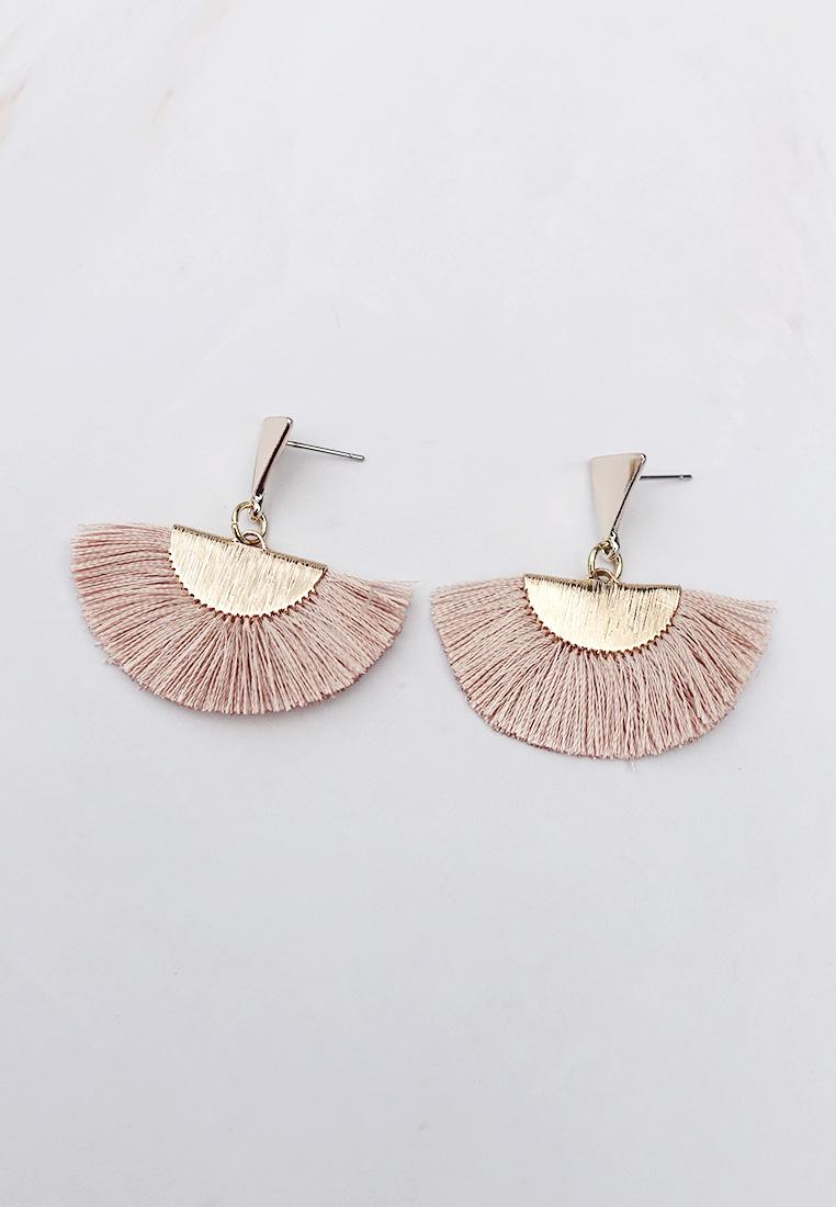 Fan Fringed Earrings