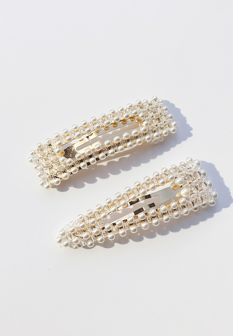 Florence Pearl Clip Set