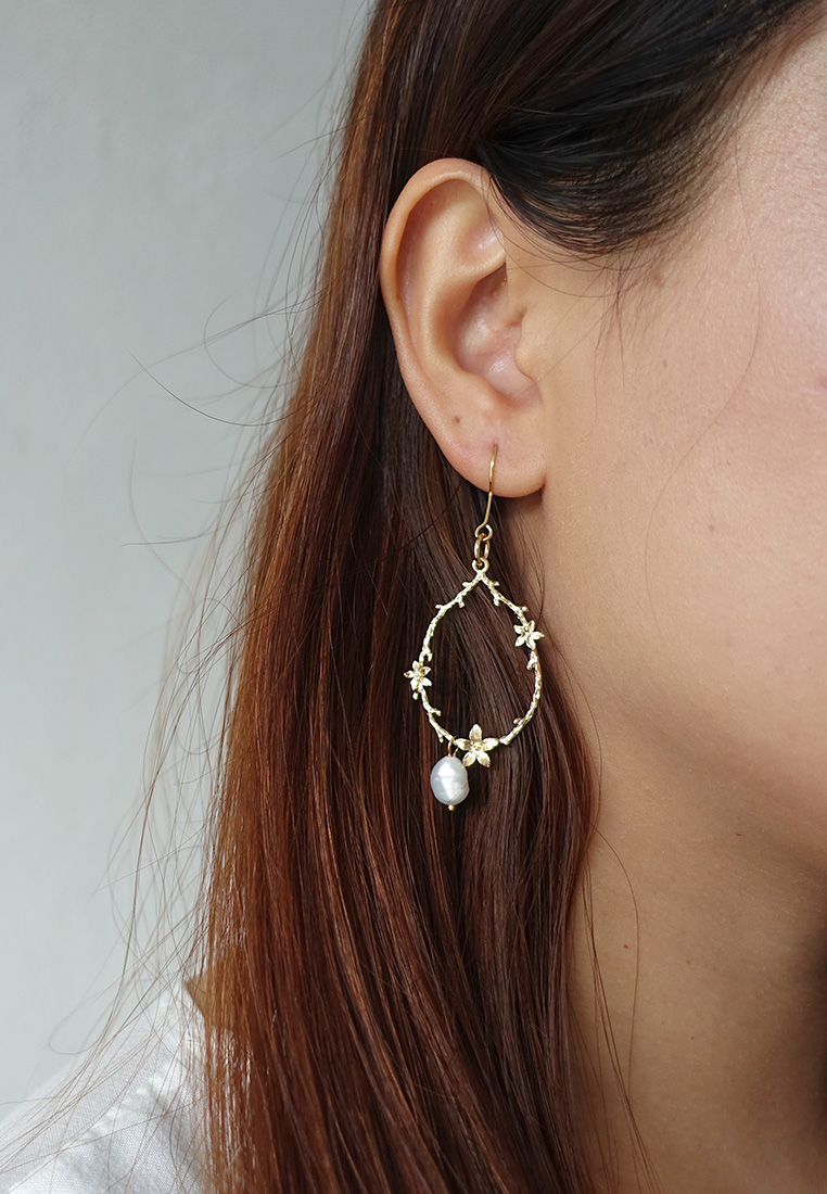 Pearl Wreath Earrings