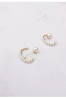 Pearl Crescent Ear Cuff