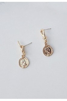Lasso Knot Coin Earrings