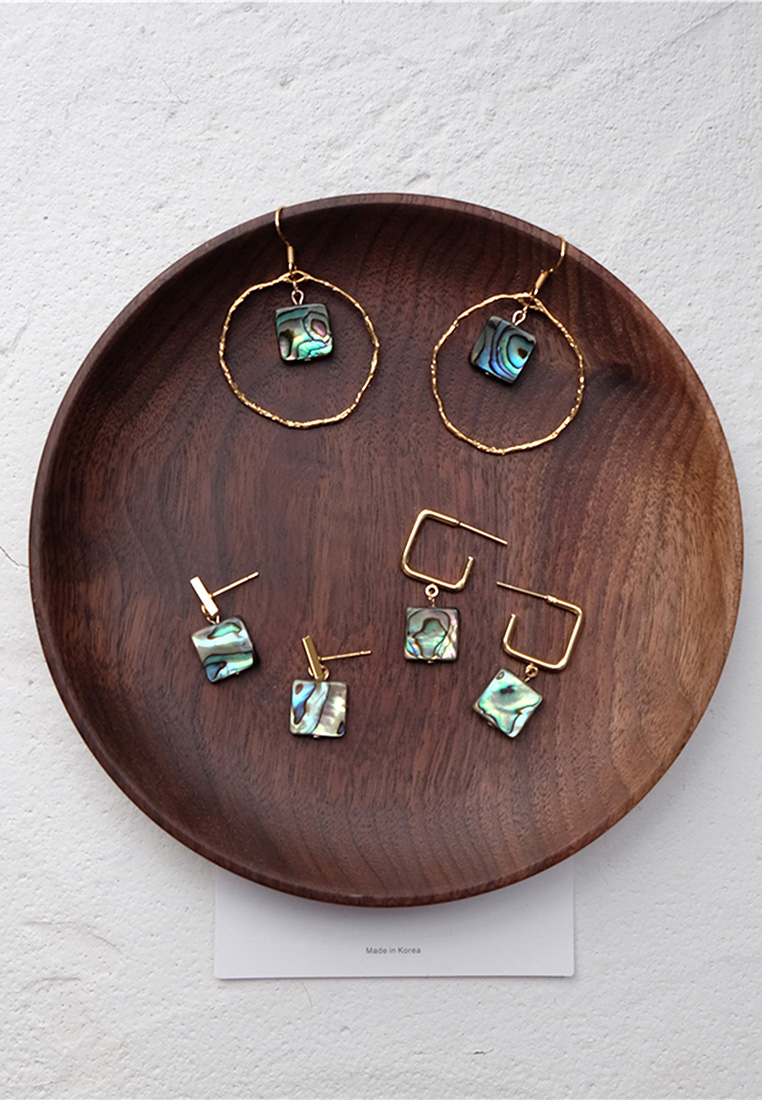 Abalone Shell Bar Earrings