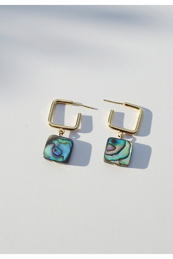 Abalone Shell Hoop Earrings