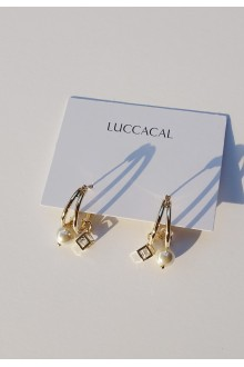 Huggie Pearl Hoop Earrings