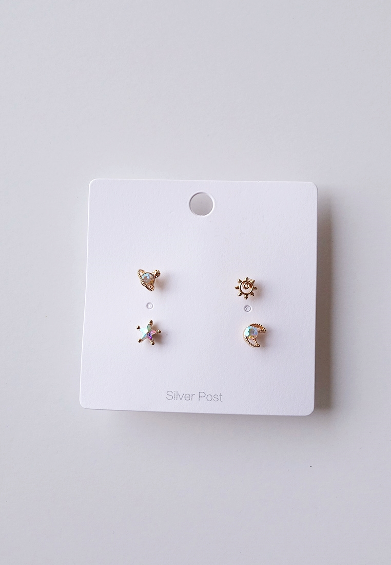 Celestial Stud Earrings Set