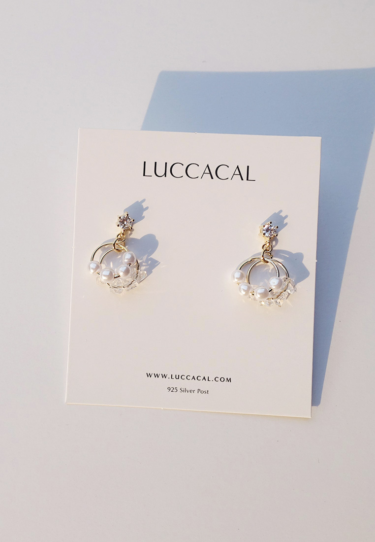 Pearl Orbit Earrings