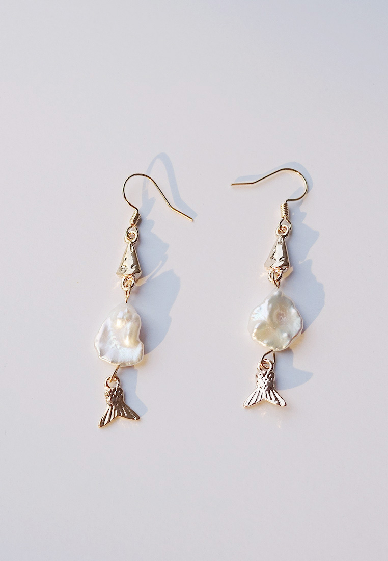 Fish & Pearl Earrings