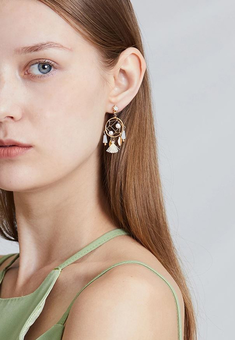 Devora Dream Catcher Drop Earrings