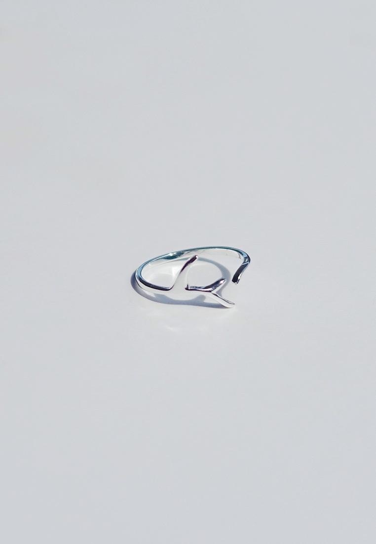 Sterling Silver Antler Ring (Adjustable)