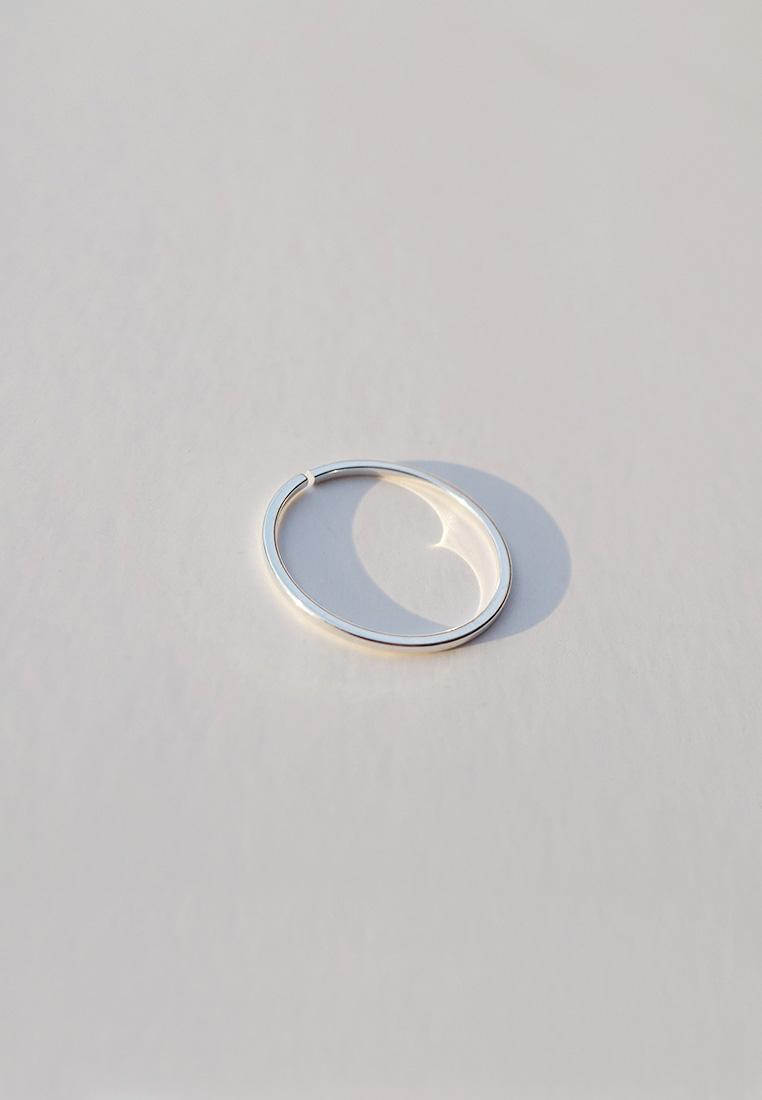 Plain Silver Ring (Adjustable)