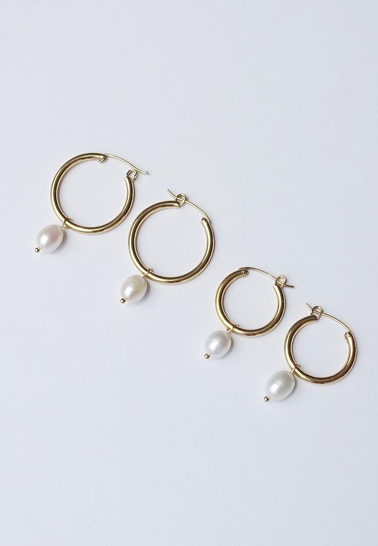 Livi Pearl Hoop Earrings