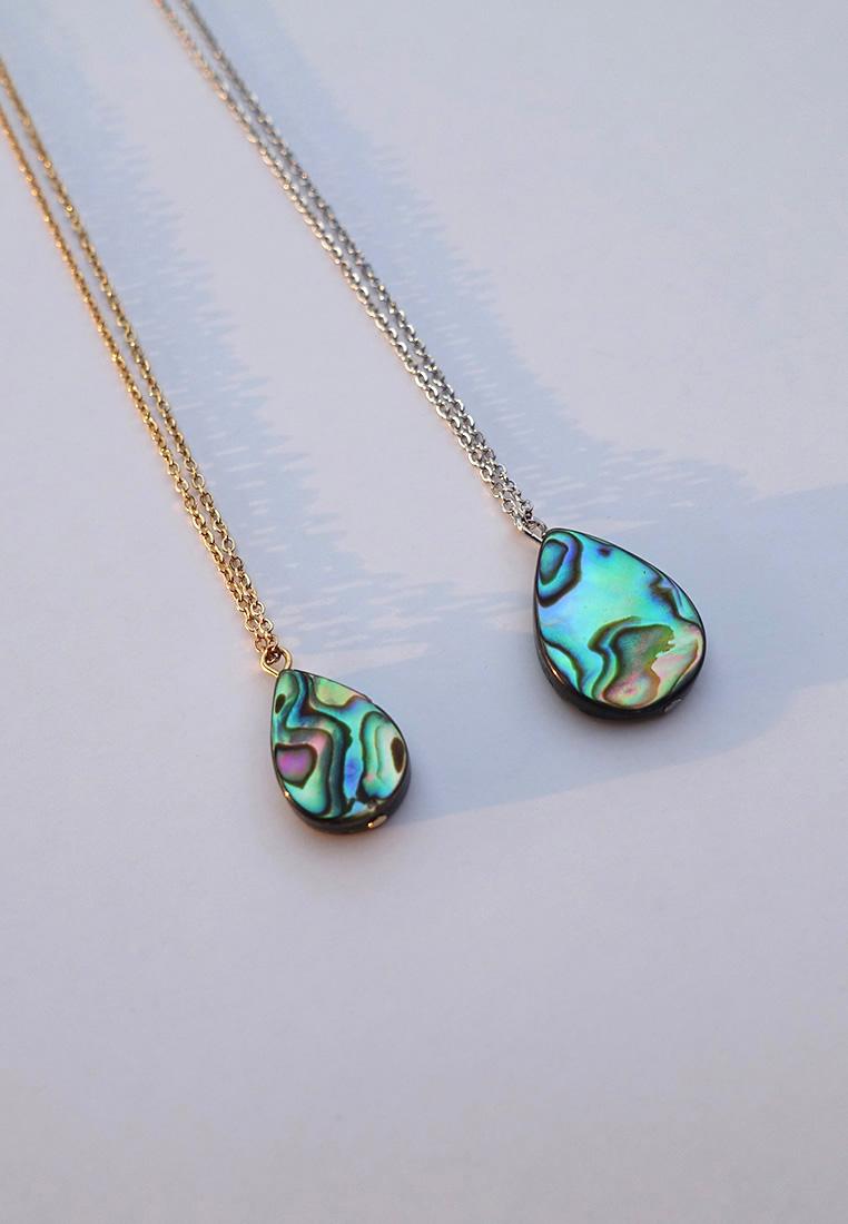 Teardrop Abalone Shell Necklace