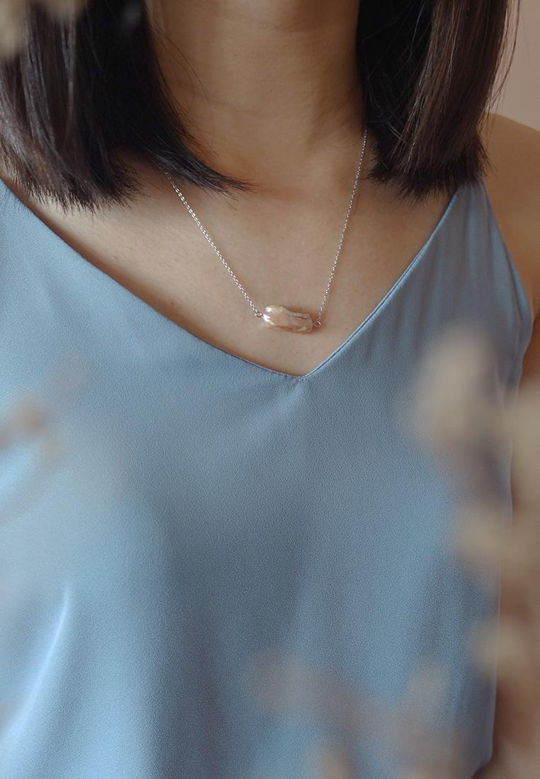 Biwa Pearl Necklace