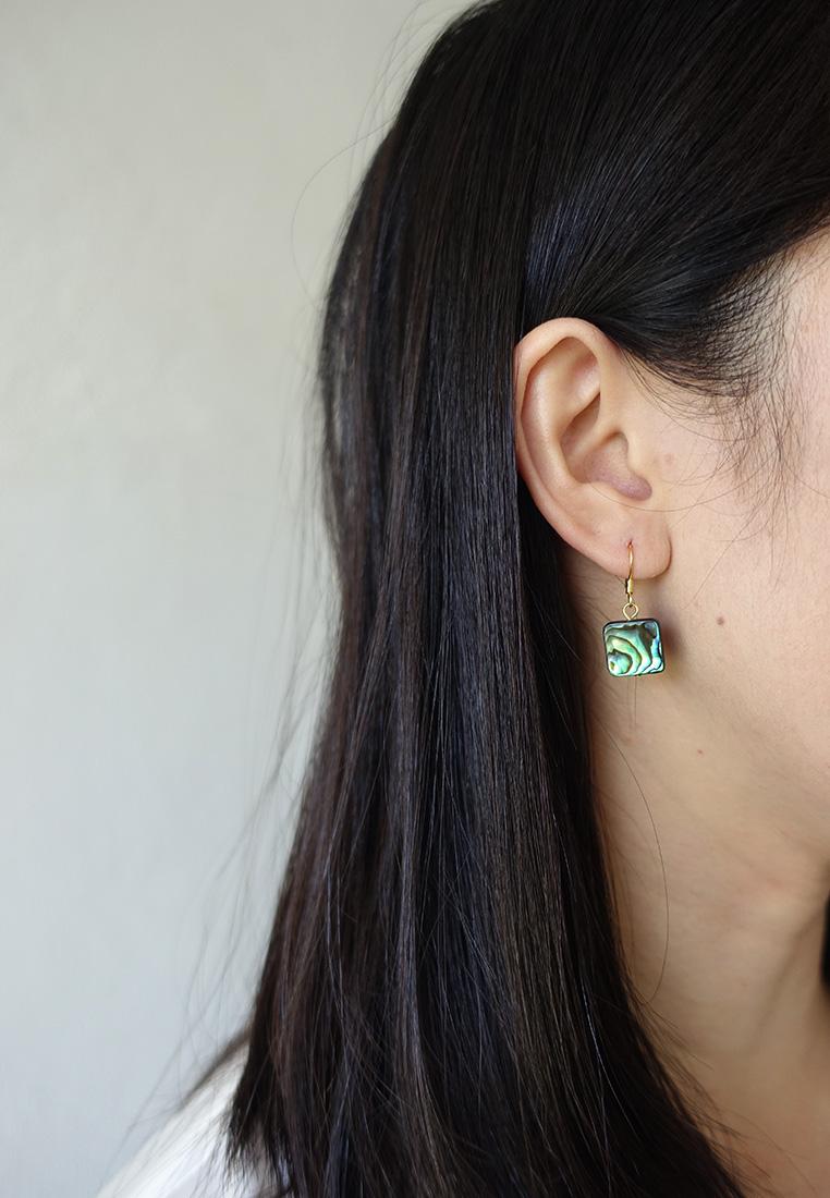Paua Square Earrings