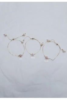Dainty Pearl Skinny Slider Bracelet