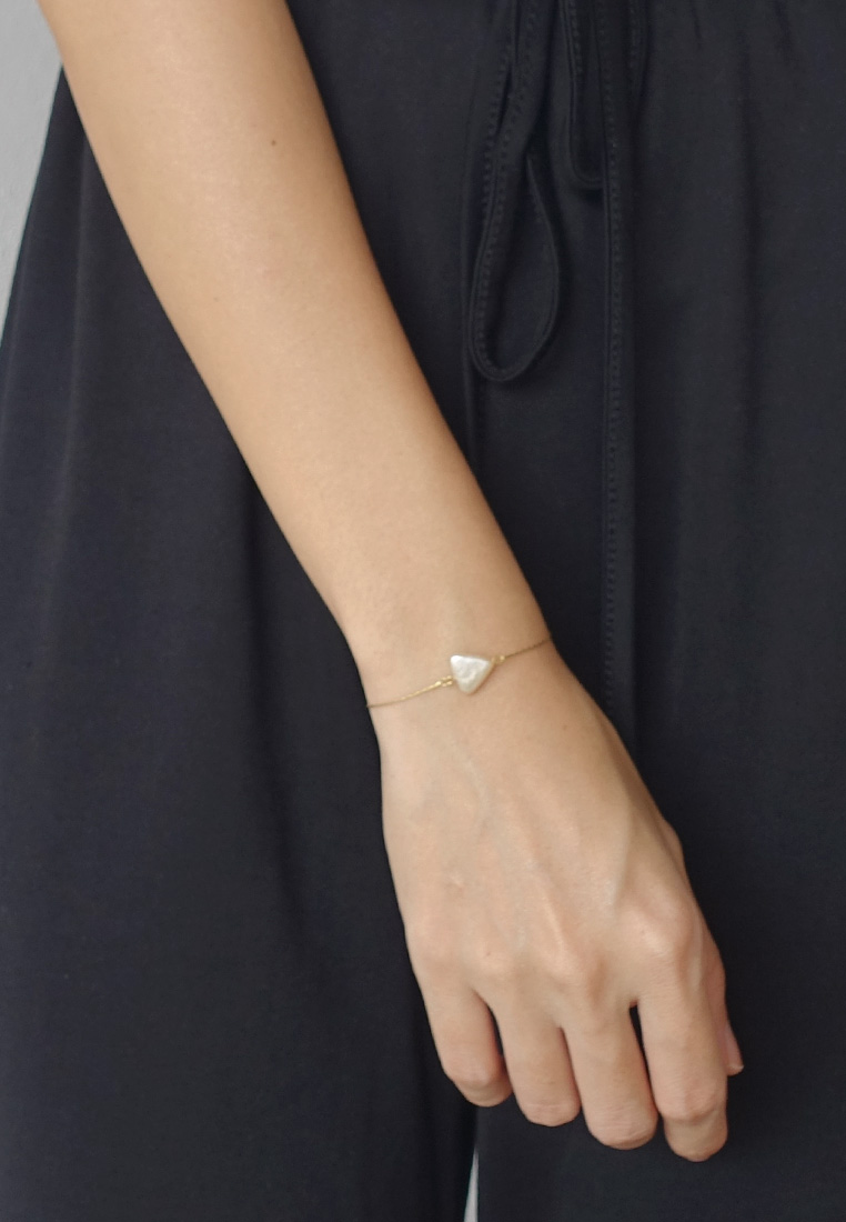 Pearl Skinny Slider Bracelet