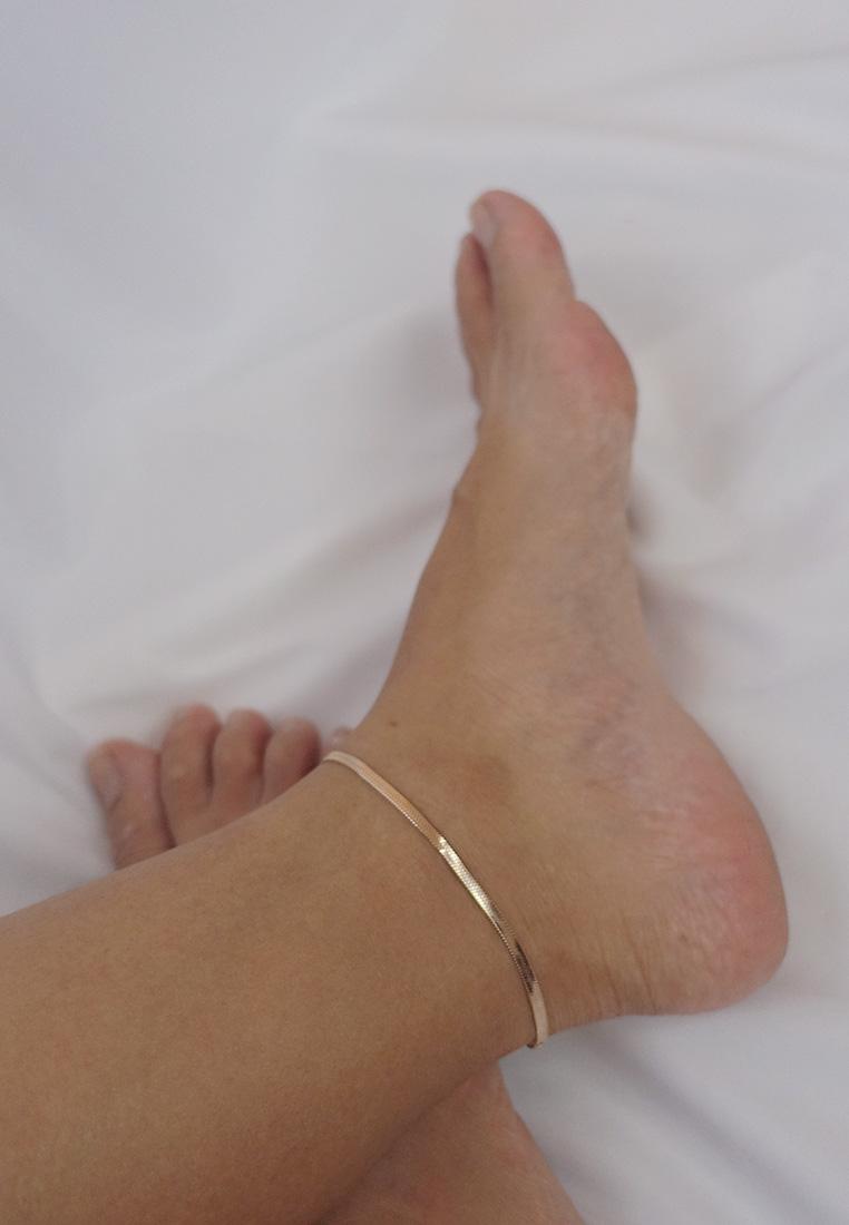 Agnes Herringbone Anklet