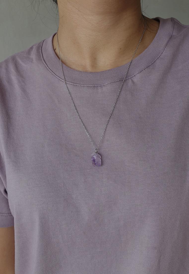 Raw Amethyst Necklace