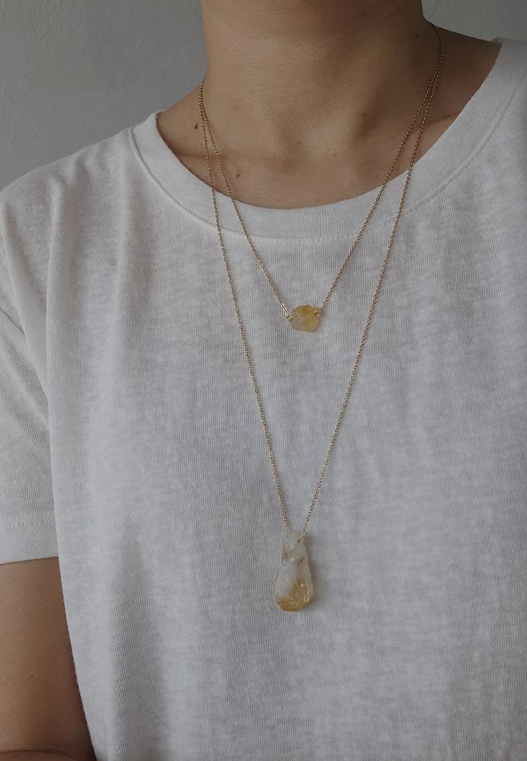 Dainty Raw Crystal Necklace