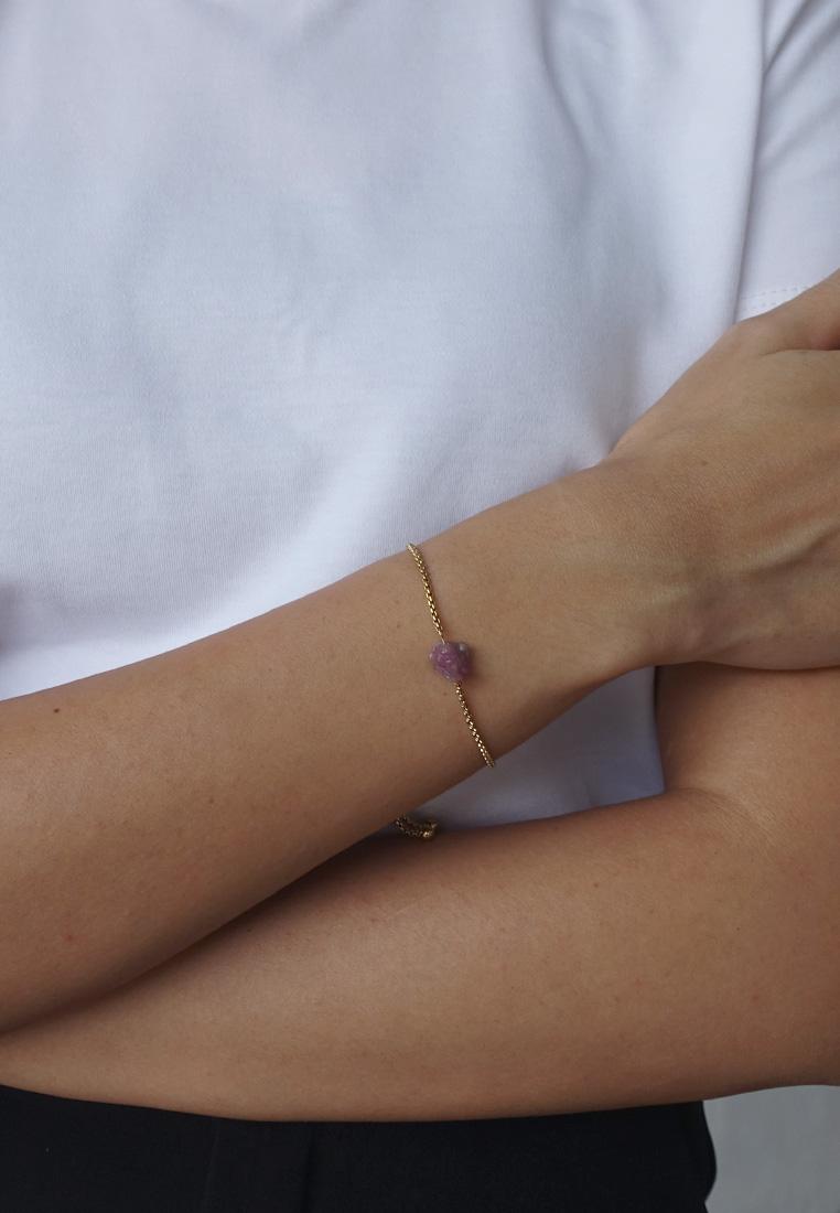 Raw Crystal Slider Bracelet
