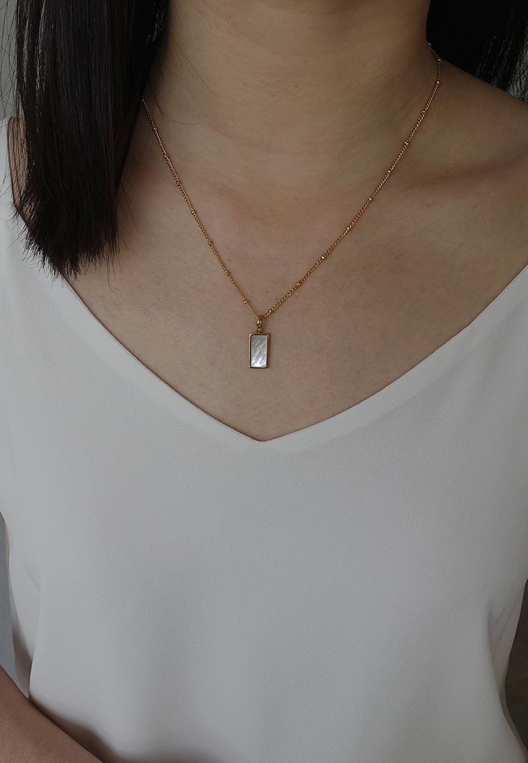 Inez Paua Pendant Necklace
