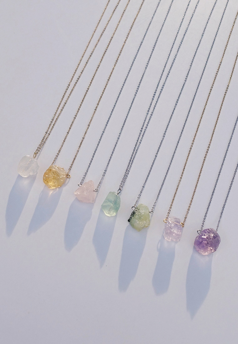 Raw Crystal Pendant Necklace