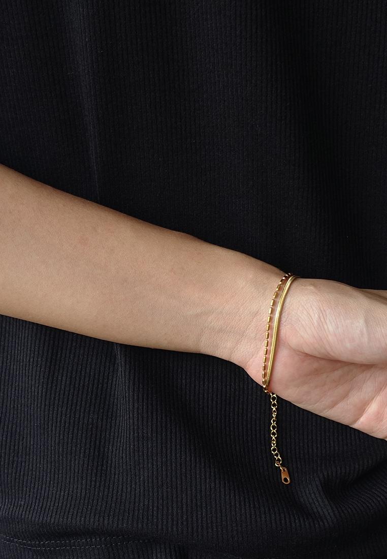 Jae Herringbone Layer Bracelet