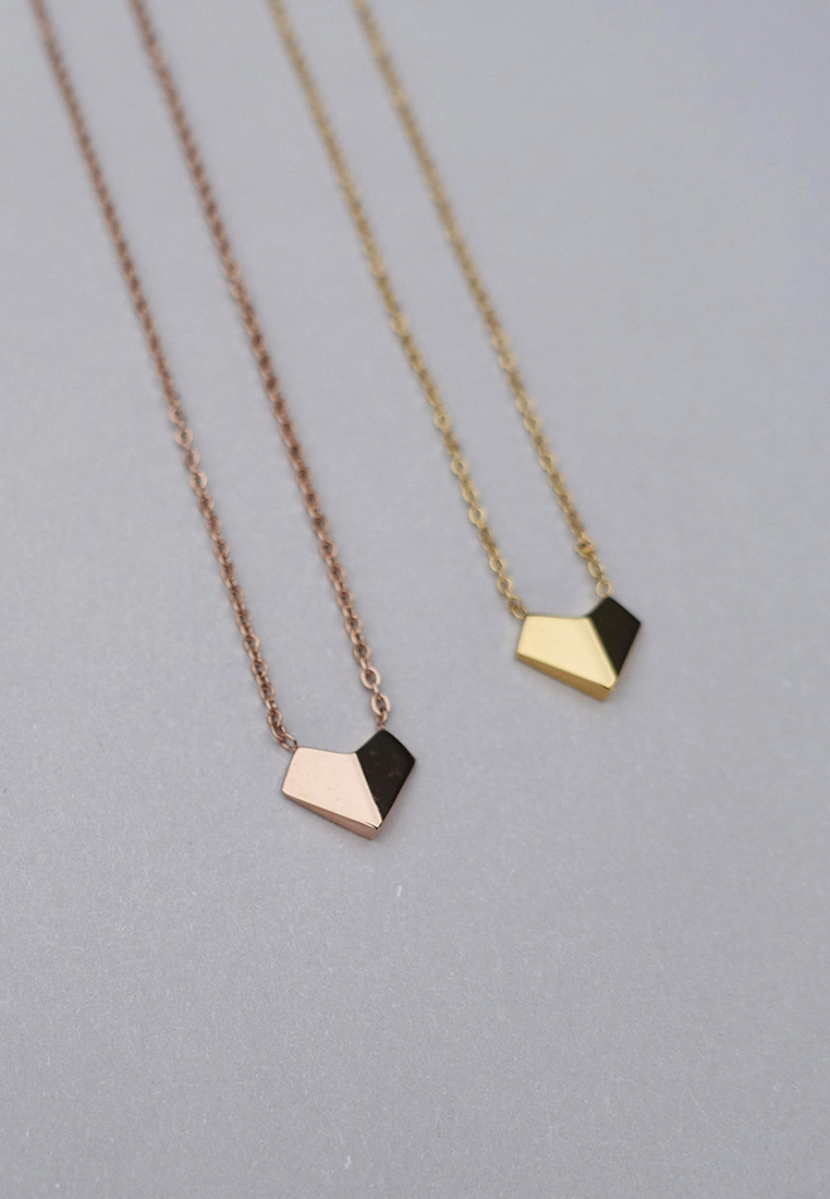 Origami Heart Necklace
