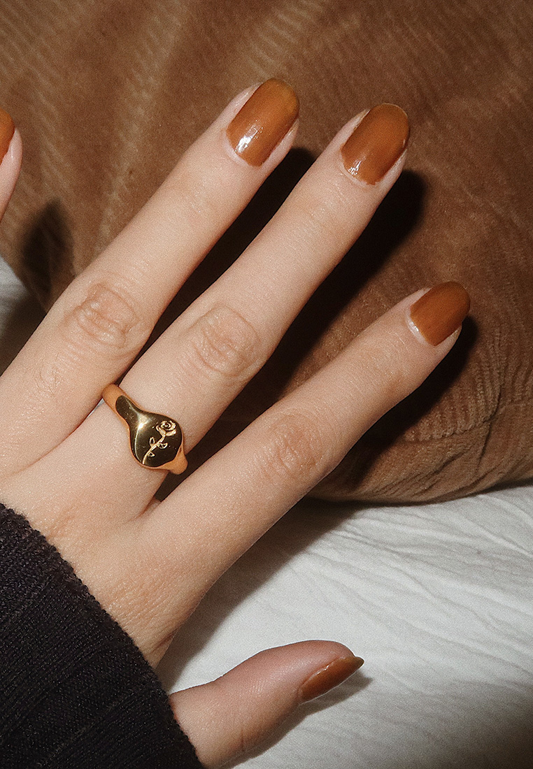 Rose Signet Ring
