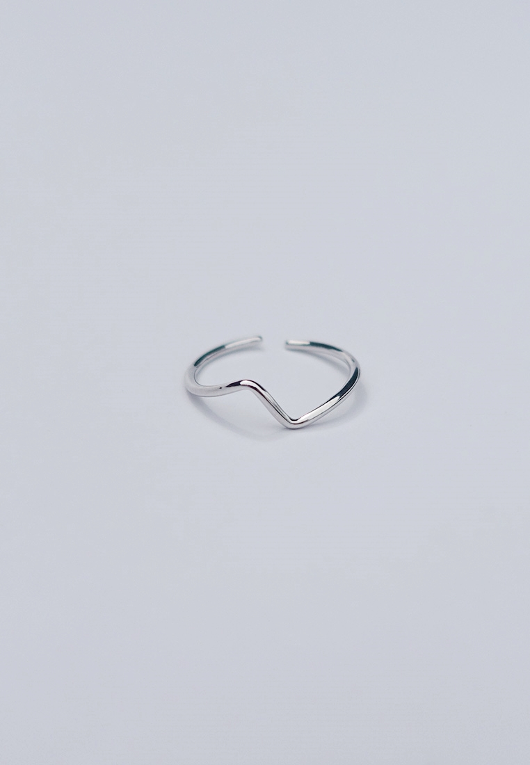 Surf Wave Silver Ring