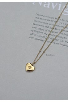 Heart North Star Necklace