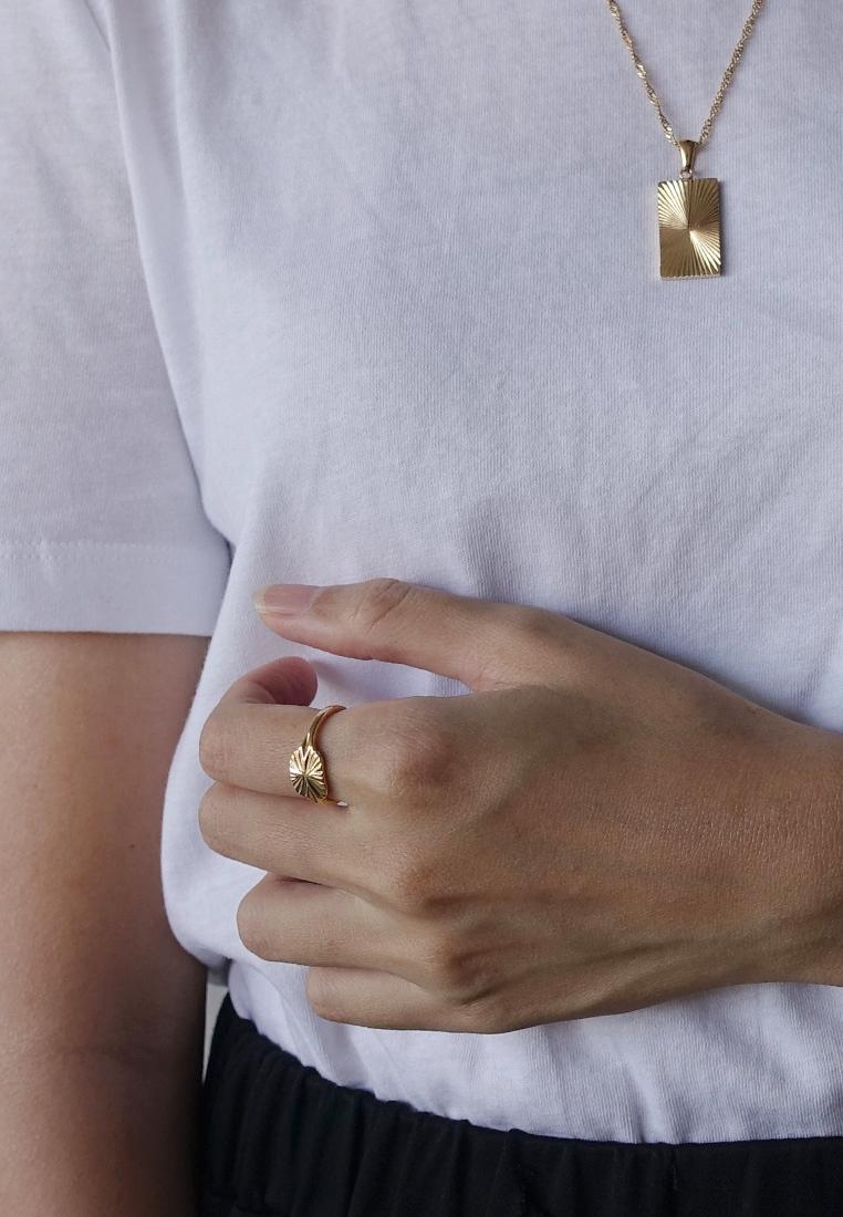 Sunburst Shield Ring