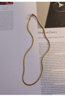Bold Herringbone Chain Necklace