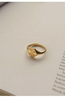 Sunburst Signet Ring