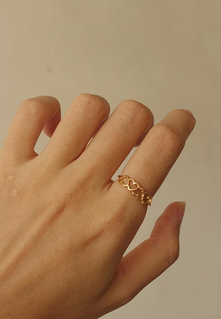 Cutout Heart Ring