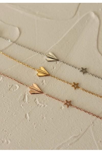 Origami Airplane Bracelet