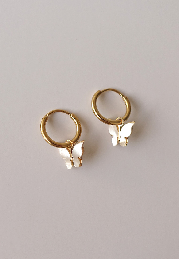 Butterfly Hoop Earring