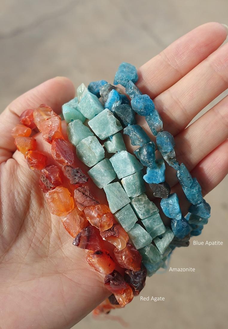 Dainty Raw Crystal Bracelet II