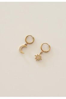 Starburst Huggie Earrings